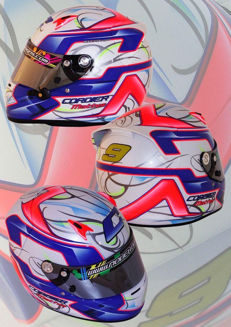 Galerie Karting | Nouch Designs, peinture personnalisée sur casques