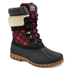 Prefer the Khaki, hopefully Pinterest will tell me when the price drops! Storm by Cougar Women's Cirrus Waterproof Duck Boots - Red 10 : Target