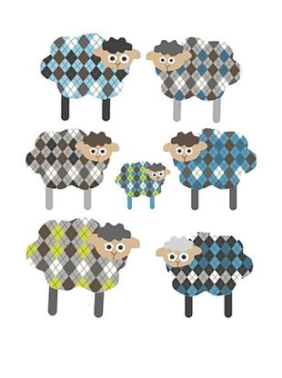 63% OFF pop & lolli Shy Sheepies Fabric Wall Decals