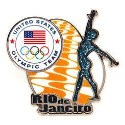 Team USA Gymnastics Glitter Pin