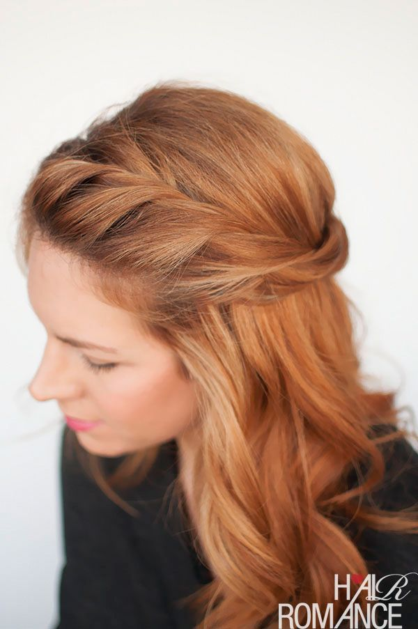 The Twist back - easy half-up hairstyle tutorial - Hair Romance #Easyhairstyles