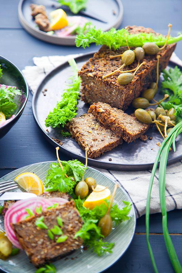lentil loaf, pain de viande vegan, recette vegan, recette végétalienne