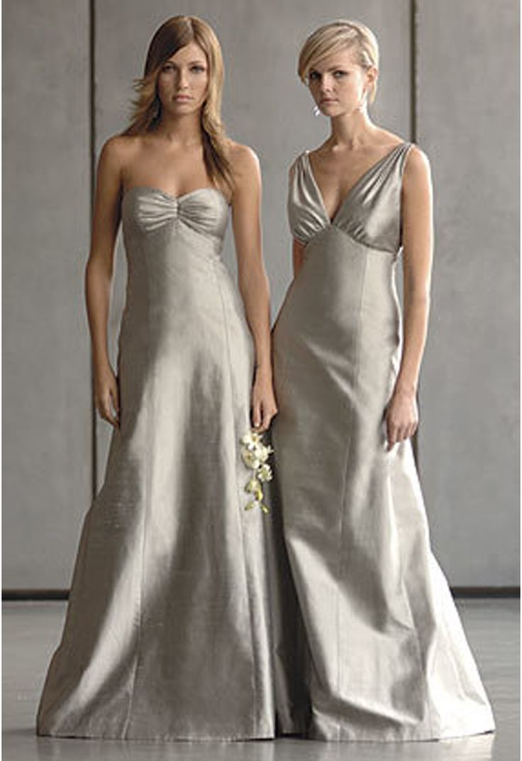 20 best silver platinum bridesmaid dresses images on pinterest silver bridesmaid dress different styles however same fabric for each bridesmaid ombrellifo Images