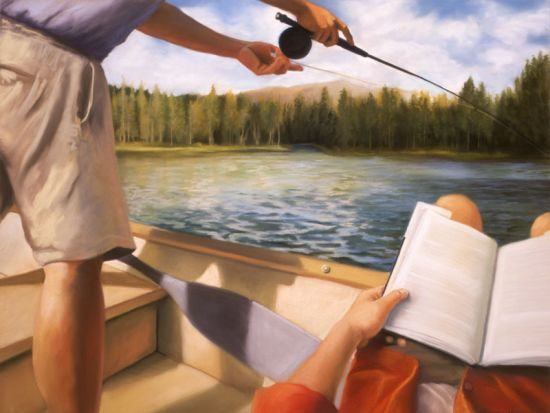 Casting - Deborah DeWit (Aunt Nell used to fuss at me because I always took a book when we went fishing. And she was a librarian! Books trumped fishing any day)