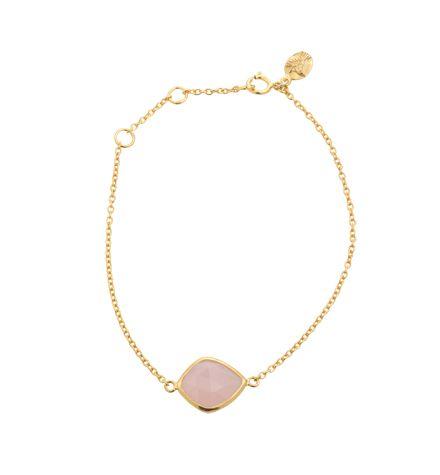 Pulki Bracelet, pink onyx, sterling silver, 18kt hard gold plate https://kerryrocks.com.au/product/pulki-bracelet-pink-onyx-gold