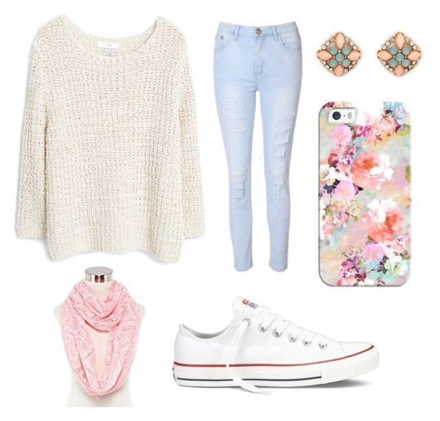 """""""Cute outfit for teen girls"""" by udeapage on Polyvore featuring Glamorous, MANGO, Forever 21, Mixit, Converse, Casetify, women's clothing, women, female and woman - womens clothing online, womens sports clothing, sale womens clothing online"""
