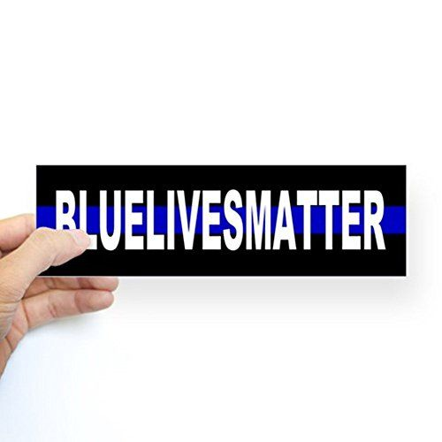 "CafePress Blue Lives Matter Thin Line Strip Sticker (Bumper) 10""x3"" Rectangle Bumper Sticker Car Decal"