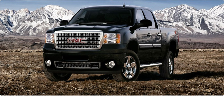 This is what happens when your husband wants to be on pinterest, but not really!   2012 GMC Sierra 2500HD Denali Diesel Pickup Truck Onyx Black