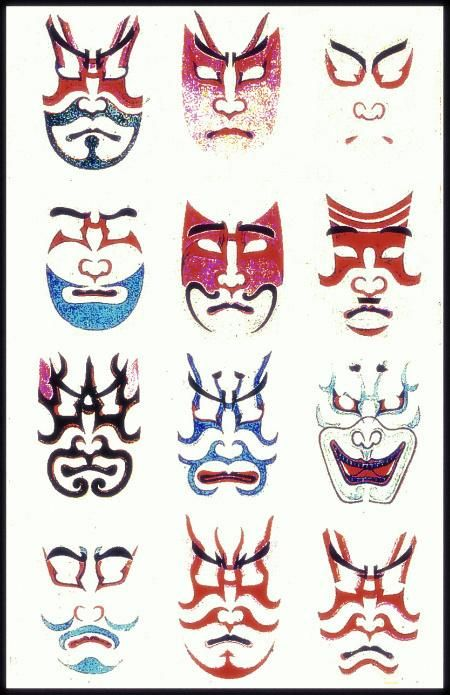 Image result for kabuki face paint