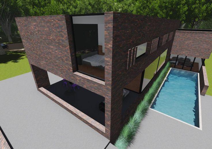 Architectenbureau Tenback de Groof #modern #design #brick #architecture #swimmingpool