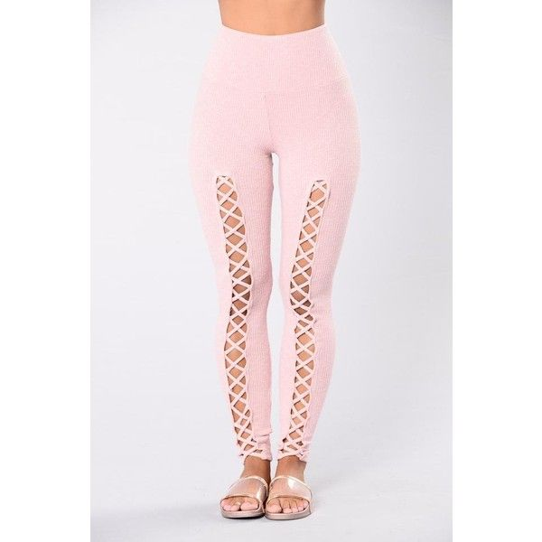Leggings ($28) ❤ liked on Polyvore featuring pants, leggings, legging pants, yoga trousers, pink leggings, yoga pants and pink pants