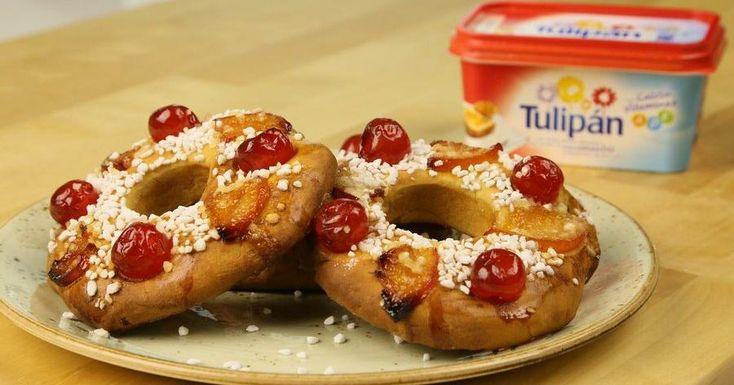 Mini roscones para el desayuno del Día de Reyes