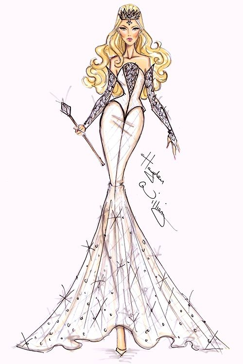 Hayden Williams Fashion Illustrations: Disney's 'Oz' by Hayden Williams - Glinda: