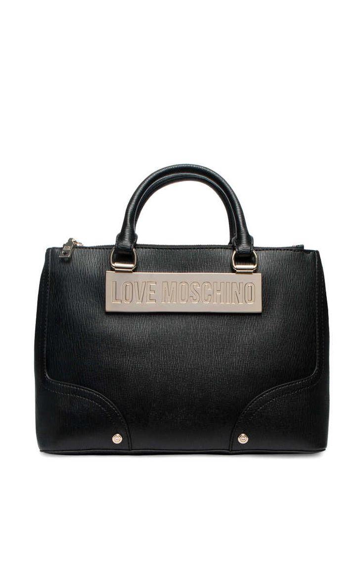 Handväska JC4020PP11LB0000 BLACK/GOLD - Love Moschino - Designers - Raglady