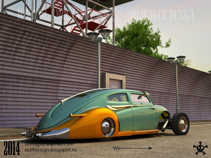 Solifague Design: VW Beetle Custom.