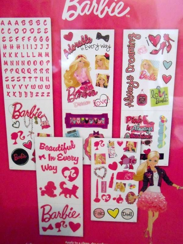 17 best images about gemma 39 s bedroom on pinterest barbie for Barbie wall mural
