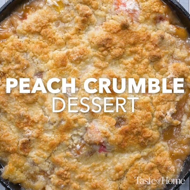 Peach Crumble Dessert