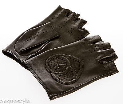 Chanel Black Leather Fingerless Gloves | Chanel - Hat ...