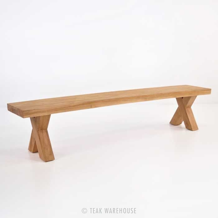 Teak Warehouse | Cross Reclaimed Teak Bench
