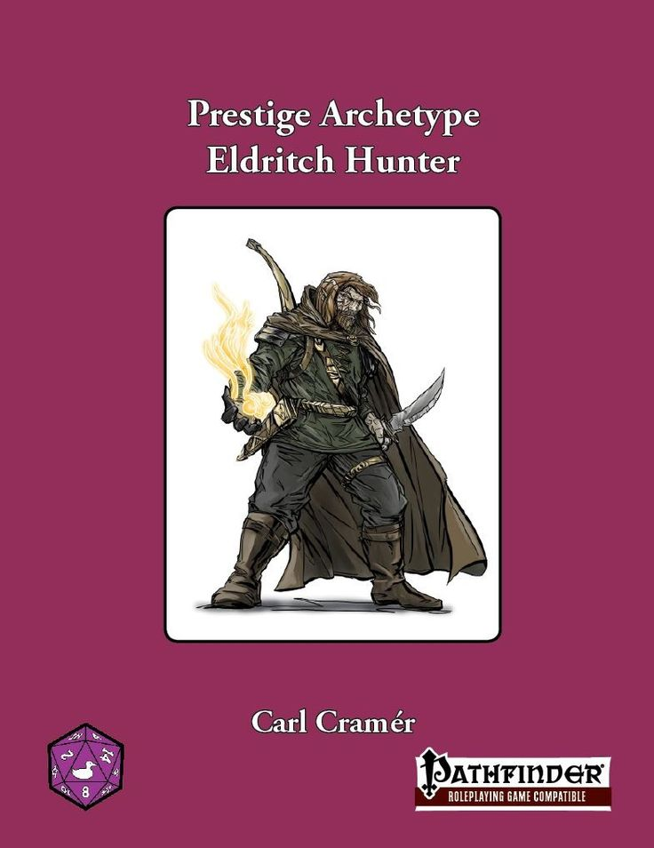 Prestige Archetype: The Eldritch Hunter They receive 3/4 BAB-progression, good fort- and will-saves and spontaneous cha-based spellcasting of up to 9th level. However, unlike a full spellcaster, their daily allotment of spells is diminished when compared to the sorceror to pay for the increased martial prowess. They also receive access to a sorceror's bloodline at 1st level