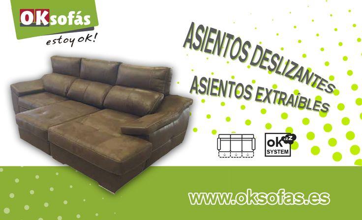 ¡Sofá Divinity! Bandeja extraibles consiguiendo mayor superficie de asiento con lo que se obtiene mayor confort y comodidad. Convirtiéndose también en sofá-cama. Impresionante verdad! #comodidad #decor #sofacama #estoyok #sofas #sofacama http://www.oksofas.es
