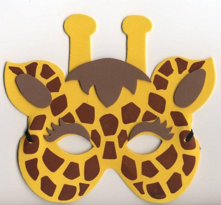 Karnevalová maska - žirafa