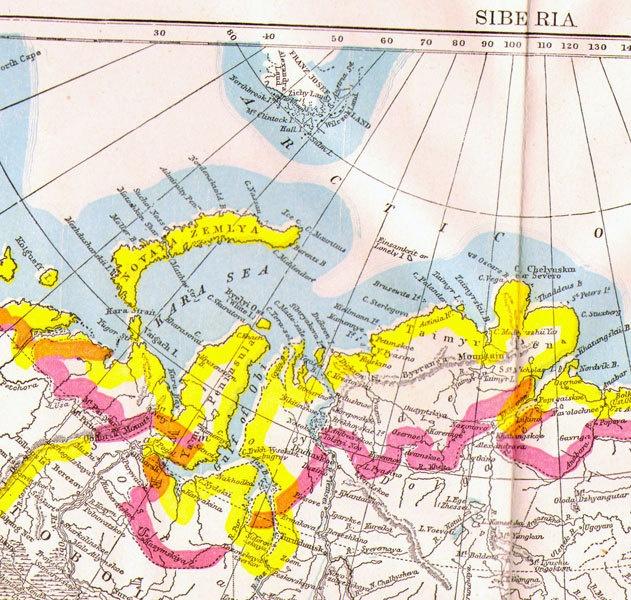 Vintage Siberia Map