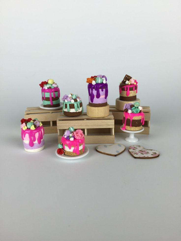 Delicious Indulgence Cakes -dollhouse food  by PetiteBoulangerieAU on Etsy https://www.etsy.com/listing/235661725/delicious-indulgence-cakes-dollhouse