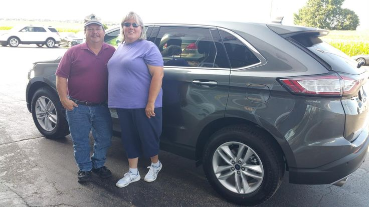 "Kathy, wishing you many ""Miles of Smiles"" in your 2017 Ford  Edge!  All the best, Kunes Country Ford Lincoln of Sterling and Jack Hibbard."