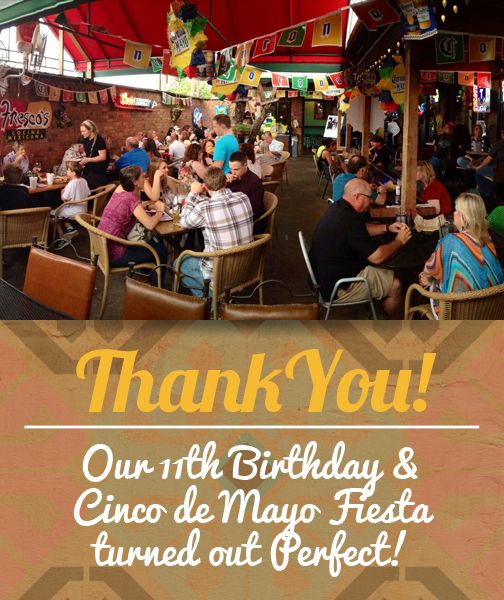We want to thank everyone who joined us for our Cinco de Mayo and 11th Birthday Celebration!   Follow us on Facebook to keep updated with our News and Events!  Link to Facebook Page: goo.gl/FZMMUO