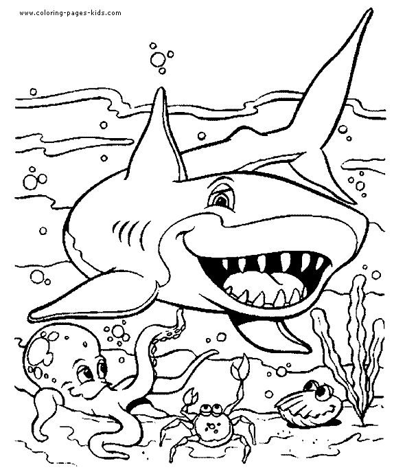 blue shark coloring page printable animal town blue shark free printable coloring pages animals color sheet animal coloringbook - Printable Coloring Book Pages 2