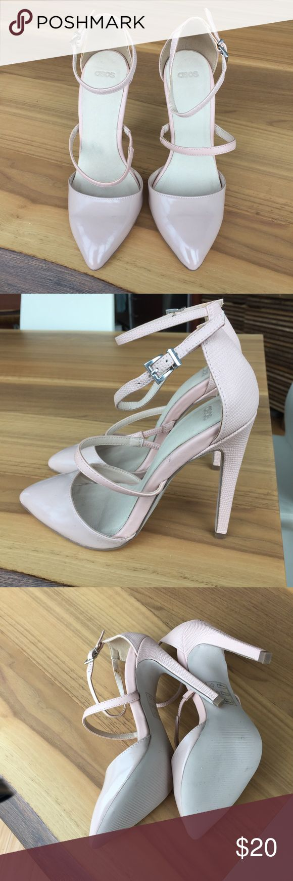ASOS Blush Pink Heels NEW ASOS Blush Pink Heels NEW, never worn outside, only tried on in house, too big for me after ordering online and missed return window Shoes Heels