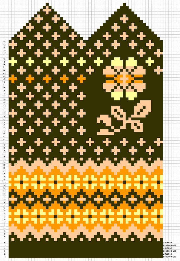 Knit mitten pattern chart