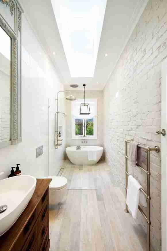 Wondrous Long Narrow Bathroom 65 Great Layout For A Long Narrow Bathroom  Design