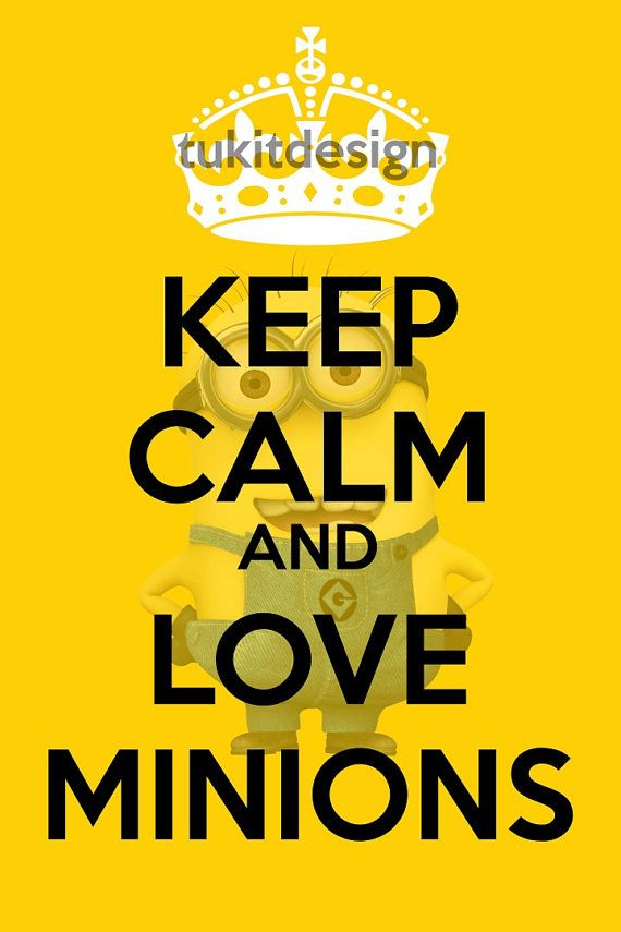 Keep Calm and Love Minions Poster 16x24 - INSTANT DOWNLOAD ...