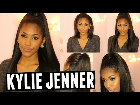 Kylie Jenner Hair Tutorial | w/ BetterLength Clip-ins (Half up-Half down) - YouTube