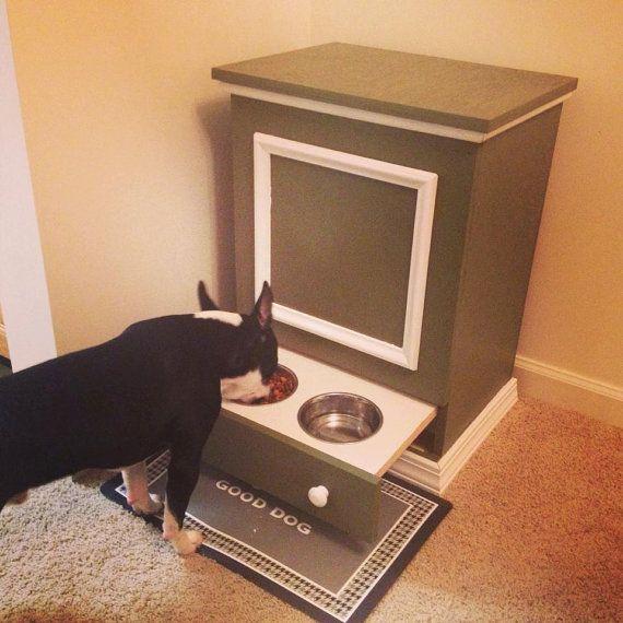 Hey, I found this really awesome Etsy listing at https://www.etsy.com/listing/154930670/dog-feeding-station