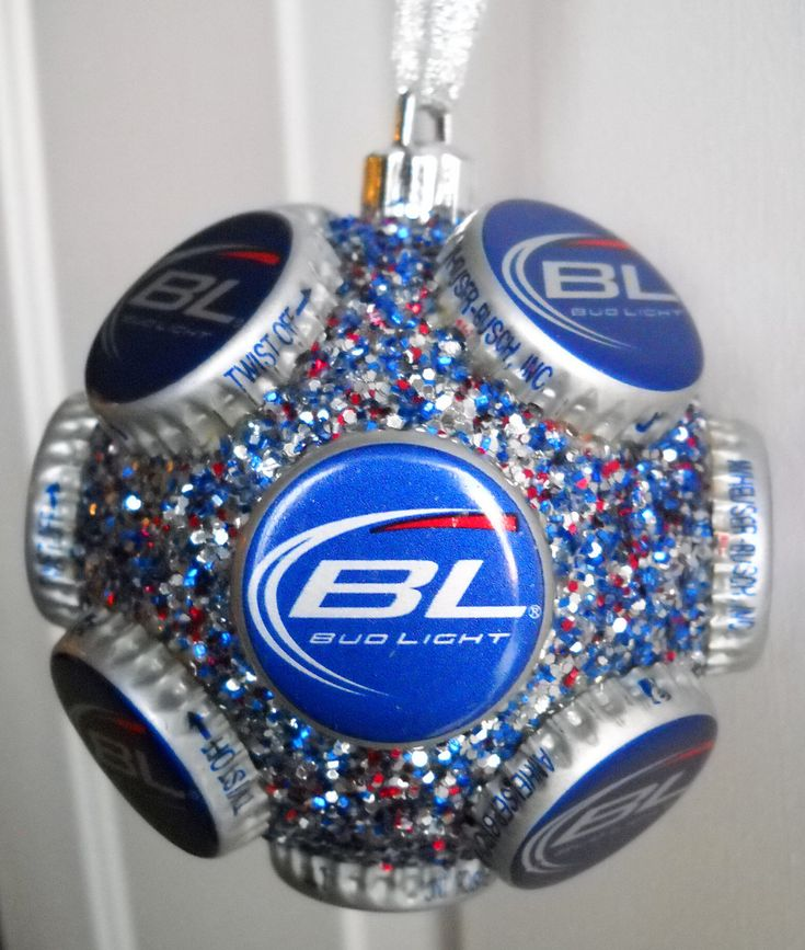 Bud Light Holiday beer bottle cap ornament by jennaevesblocks, $5.00