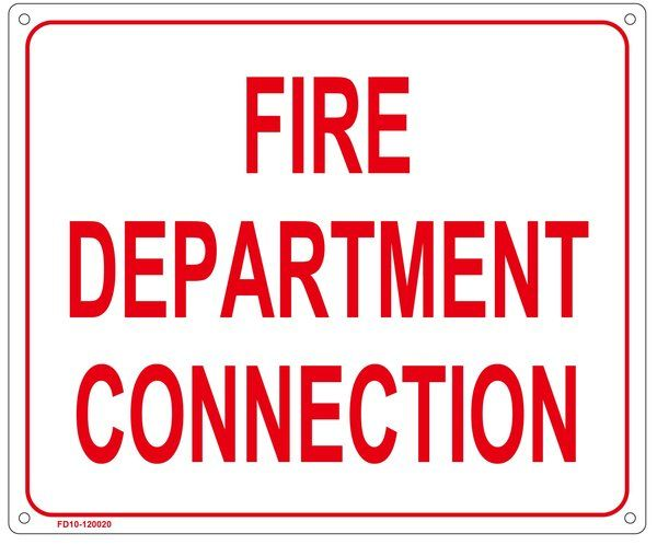 NYC FIRE DEPARTMENT SIGN- FIRE DEPARTMENT CONNECTION SIGN (10X12) | YOUR OFFICIAL STORE FOR NYC DOB SIGNAGE