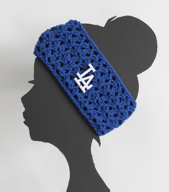 Los Angeles Dodgers MLB Headband by ThatGirlsCrafts on Etsy, $17.00 very cute