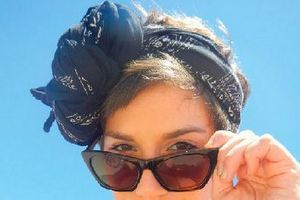 Here are some ways to stylishly tie a head scarf.: Rosette Headscarf