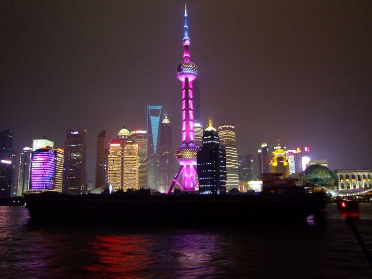 Oriental Pearl Radio & TV Tower #东方明珠塔 #Shanghai #上海市  Our boat cruise through Huangpu River