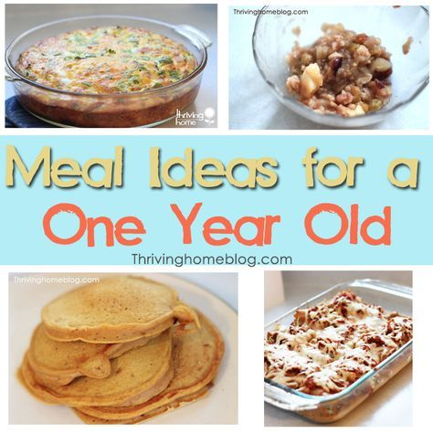 Food for a One Year Old: Lots of healthy meal ideas for your little one. Simple ingredients and easy to put together recipes.