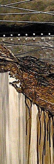 """CAROL NELSON FINE ART BLOG: Geological Abstract Painting """"Reconstruction"""" by Colorado Mixed Media Artist Carol Nelson"""