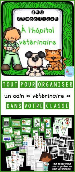 French Dramatic Play (Vet Clinic)/ Chez le vétérinaire {Jeu symbolique}