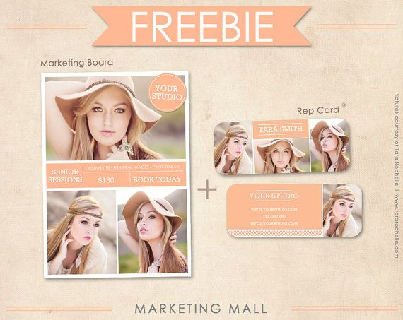 FREE Senior Rep Card Template and Marketing Board