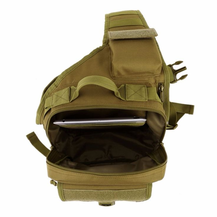 Outdoor Men Tactical Sling Shoulder Messenger Bag Nylon Camouflage Chest Pack Khaki