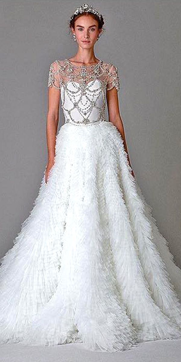 Stunning Jeweled Wedding Dresses Trend For