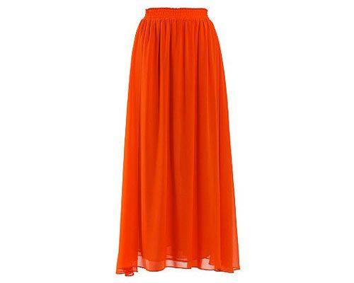 We are of the opinion that you can't have too many beautiful maxi skirts, so we're investing in this gorgeous orange version for Spring