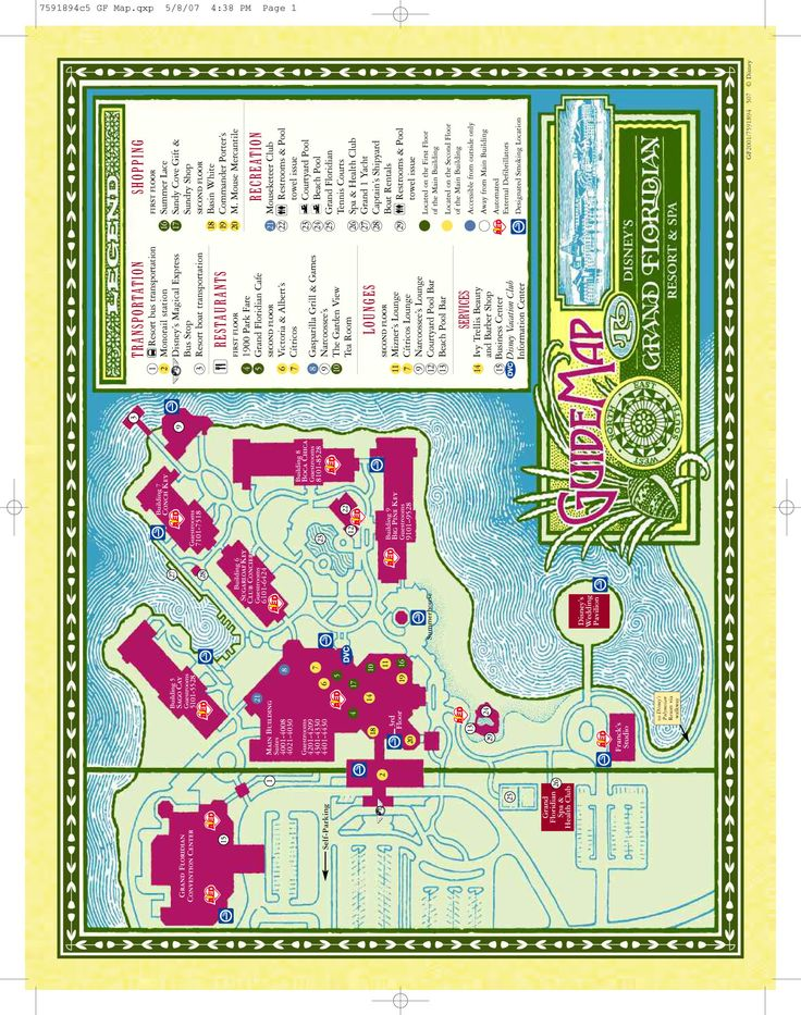 Disney Resorts -- Grand Floridian Resort & Spa map